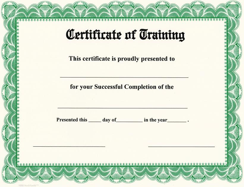 Certificate Of Training On StockSmith Border / Qty. 20