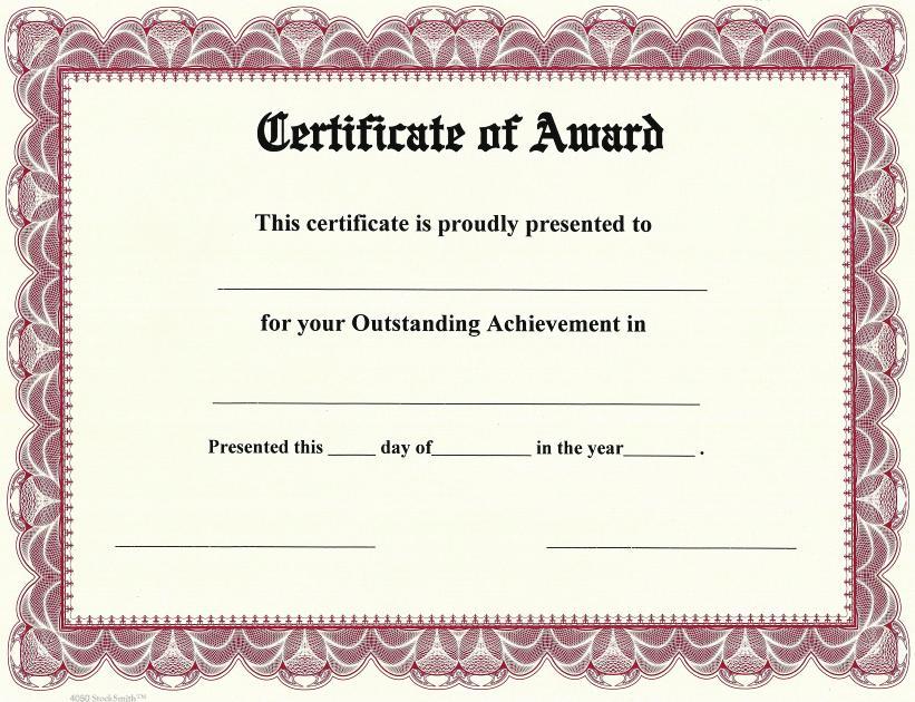 award borders for certificates