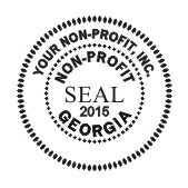 Standard 1 5 8 Corporate Seal PSI SlimStamp 4141 Stamp For Non Profit Corporations