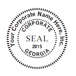 Oversized 2 Corporate Seal MaxLight 655 Stamp For Profit Corporations