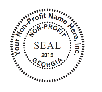 Oversized 2 Corporate Seal MaxLight 655 Stamp For Non Profit Corporations
